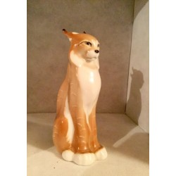 Lynx ceramic figurine